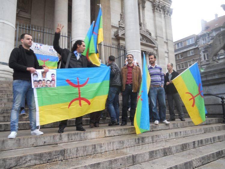 بيان وقفة الحركة الأمازيغية في بلجيكا تضامنا مع معتقلي القضية الأمازيغية