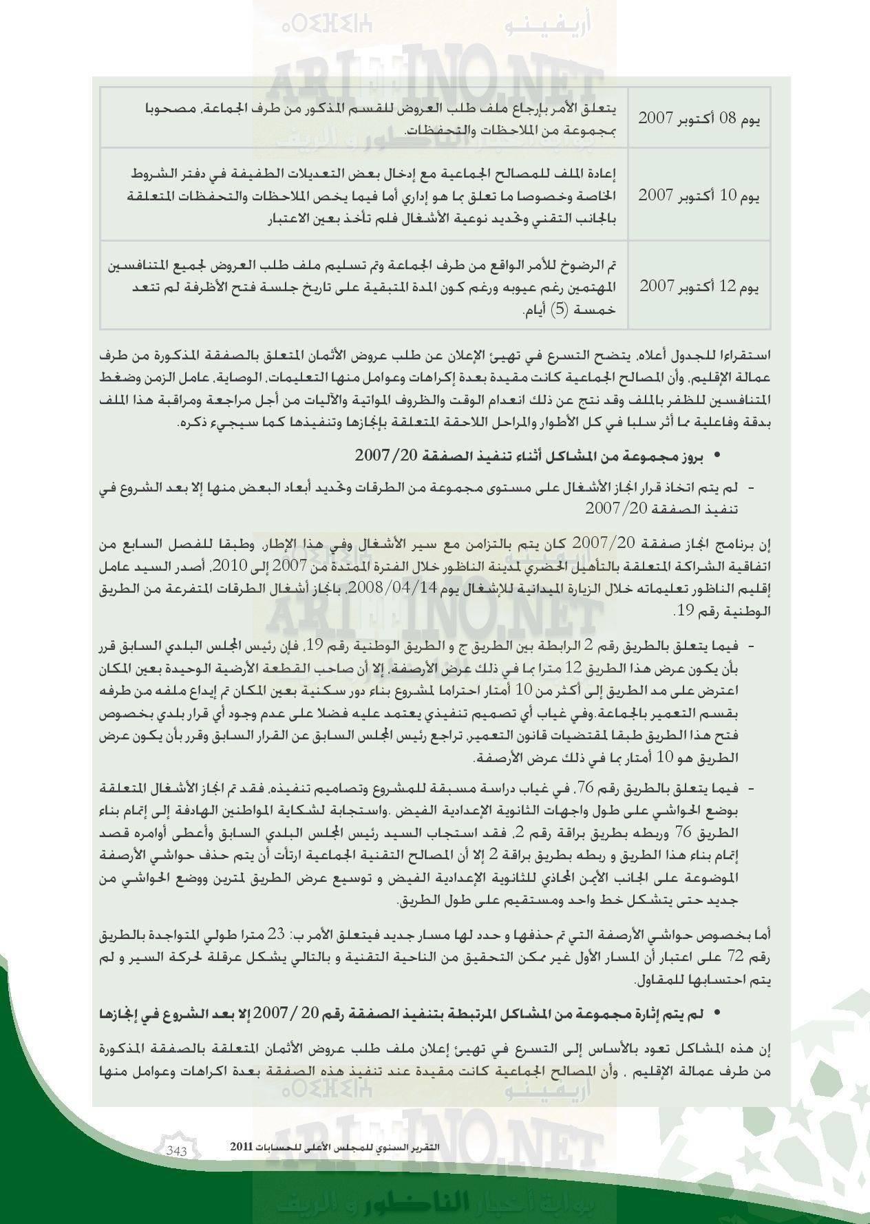 nador_0069 تقرير المجلس الاعلى للحسابات: بلدية الناظور تعيش إختلالات و عشوائية و عاجزة عن القيام بمهامها