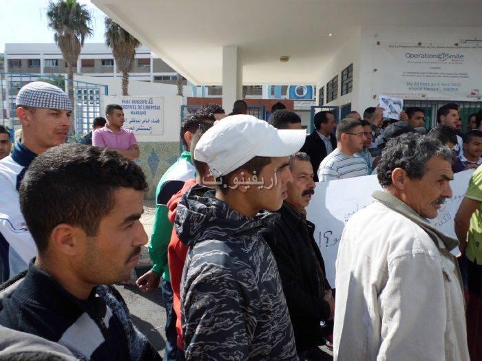 waqafat_0009 تقرير مصور: وقفات إستنكارية لعائلة الحامل المتوفاة بعيادة بلوق - حنان بوعنونو- بالناظور