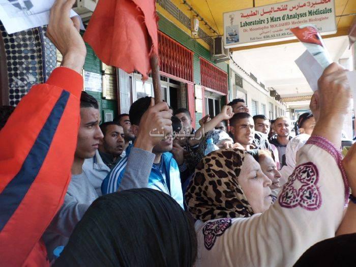 waqafat_0022 تقرير مصور: وقفات إستنكارية لعائلة الحامل المتوفاة بعيادة بلوق - حنان بوعنونو- بالناظور