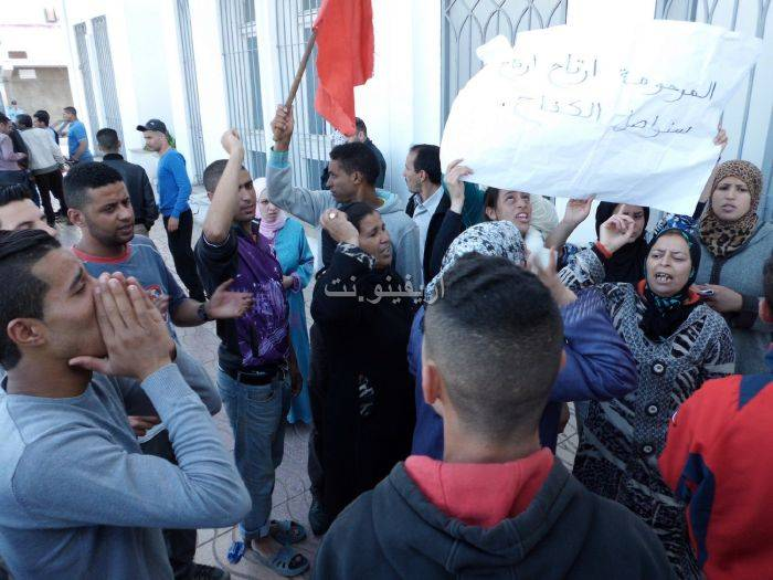 waqafat_0036 تقرير مصور: وقفات إستنكارية لعائلة الحامل المتوفاة بعيادة بلوق - حنان بوعنونو- بالناظور
