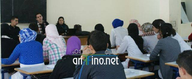 """nador0458 """"الصحفيون الشباب من أجل البيئة """" محور ورشة تكوينية بثانوية طه حسين بأزغنغان"""