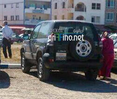 صورة: رجل سلطة يستعمل سيارة الدولة للاستجمام بشاطئ راس الماء بالناظور