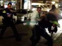 شاهد الصور و الفيديو: معركة شرسة بين مهاجر مغربي و الشرطة الهولندية في روتردام بسبب بوق سيارة