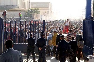 هذه هي الاصلاحات الجارية التي دشنتها السلطات الاسبانية على الحدود بين الناظور ومليلية!!