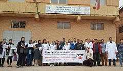 + صور: بعد الناظور، الممرضون والممرضات ينظمون وقفة احتجاجية أمام مقر مندوبية الصحة بالدريـوش