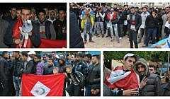 +صور و فيديو: وقفة احتجاجية غاضبة ببن الطيب تستنكر تهميش المنطقة