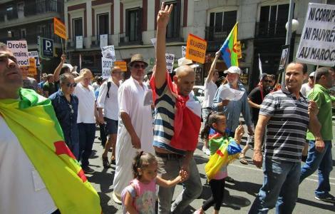 """+فيديوهات: """"حراك الريف"""".. وقفات تضامنية في ألمانيا وهولندا و اسبانيا و فرنسا ودعوات لمسيرة شعبية في مدريد"""