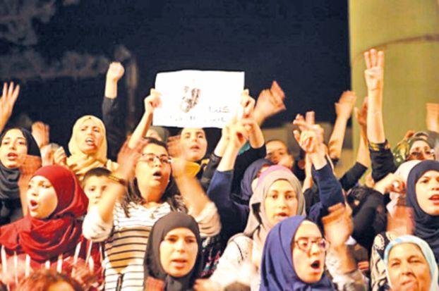 بالفيديو: الحسيمة .. تفريق تظاهرة نسائية يُثير مناوشات و احتجاجات عفوية