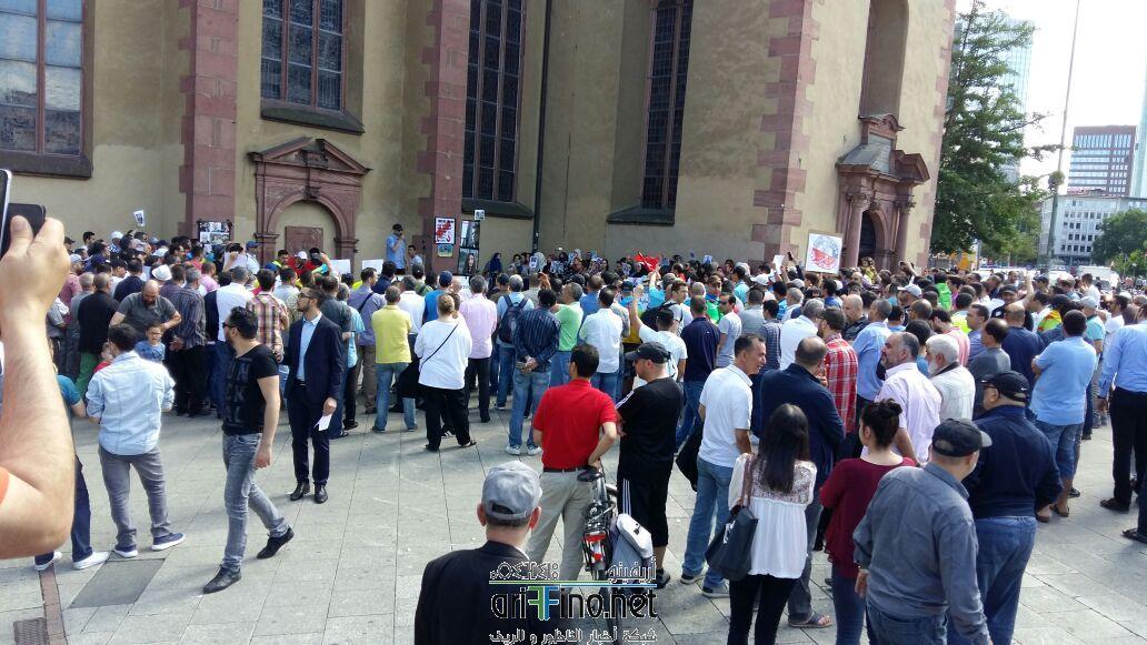 + صور وفيديو: وقفة تضامنية للجالية الريفية بفرانكفورت الالمانية تضامنا مع الريف
