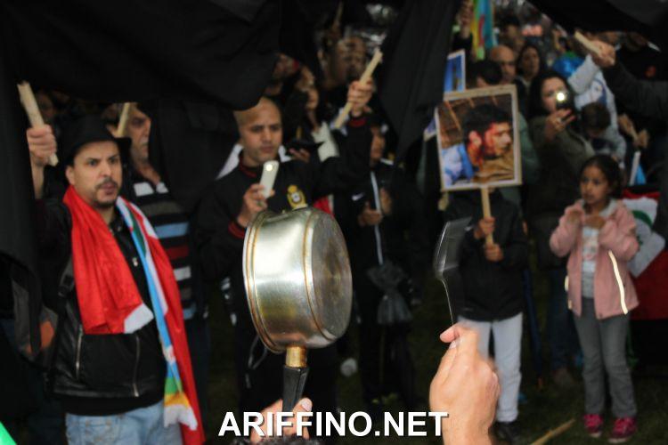 +صور و فيديو: وقفة أوتريخت..التضامن مع حراك الريف يتوالي ، وقرع الاواني يعبر الحدود الى هولندا.
