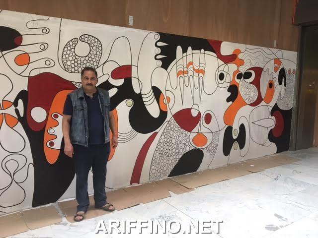 روبورتاج: الفنان التشكيلي الناظوري مصطفى الزوفري يبصم على عمل فني رائع بمحطة الشمال Gare Du Nord ببروكسيل.