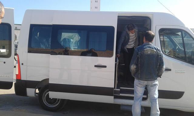 + الصور ..حافلة جديدة للنقل المزدوج من أركمان المركز الى فيرما أولمان