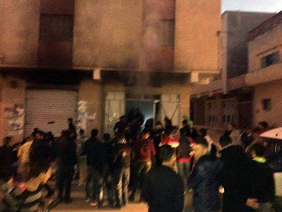 +صور: حي سكني بالعروي ينجو من الكارثة و المواطنون يحملون المسؤولية لمصالح الجماعة والوقاية المدنية