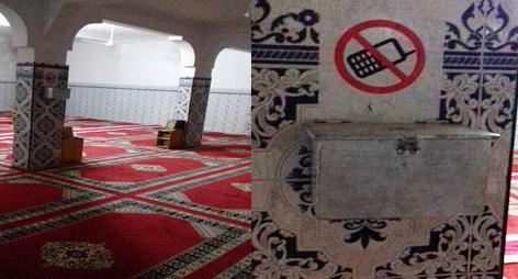 غريب: سرقة صندوق تبرعات من داخل مسجد باقليم الدريوش