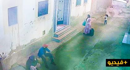 +فيديو كاميرا مراقبة: رجل و امرأة يعتديان على مهاجرة بالناظور و يسرقانها