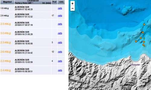 تسجيل 9 هزات ارضية خفيفة قبالة سواحل الريف في ثلاثة ايام