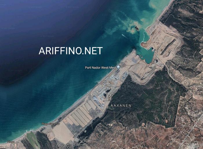 أريفينو تكشف+صورة جوية: خبراء مليلية يعترفون بخطورة ميناء الناظور غرب المتوسط عليها و يطلقون هجوما مضادا في 2018؟؟