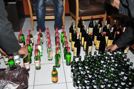 حجز كمية مهمة من الخمور ليلة راس السنة الميلادية بكشك حديدي بجماعة وردانة