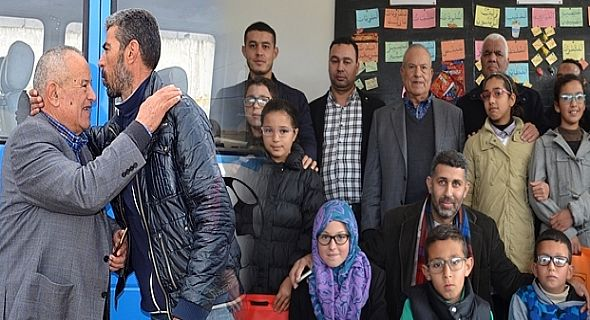+صور: توزيع نظارات طبية على تلاميذ بويافار بحضور أبرشان