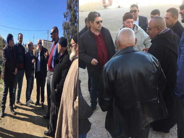 +صور: رئيس مجلس اقليم الدريوش رفقة نوابه يزور الجماعات الترابية للوقوف على حاجياتها