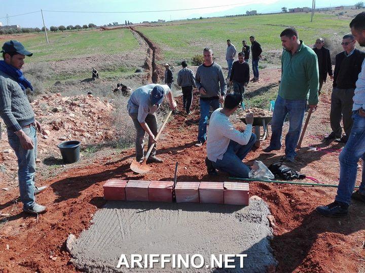 ربورتاج مصور:جمعية أفليون بأركمان تطلق أشغال مشروع تزويد الساكنة بالماء الشروب