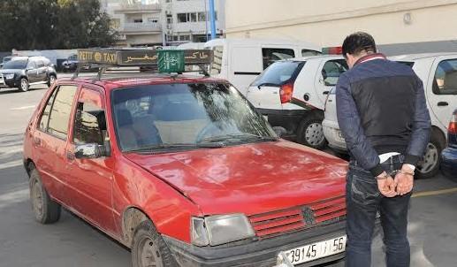 خطير: القبض فجرا على سائق تاكسي بالناظور بعد مطاردة أمنية و بحوزته كميات من مخدر القرقوبي