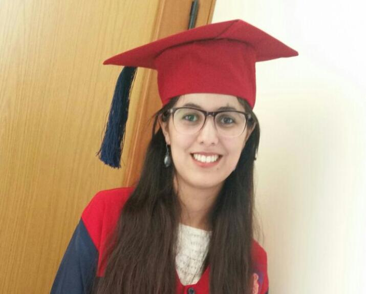 +صور: تكريم ابنة الناظور رانيا بوستار بجامعة سيدي محمد بن عبد الله بفاس