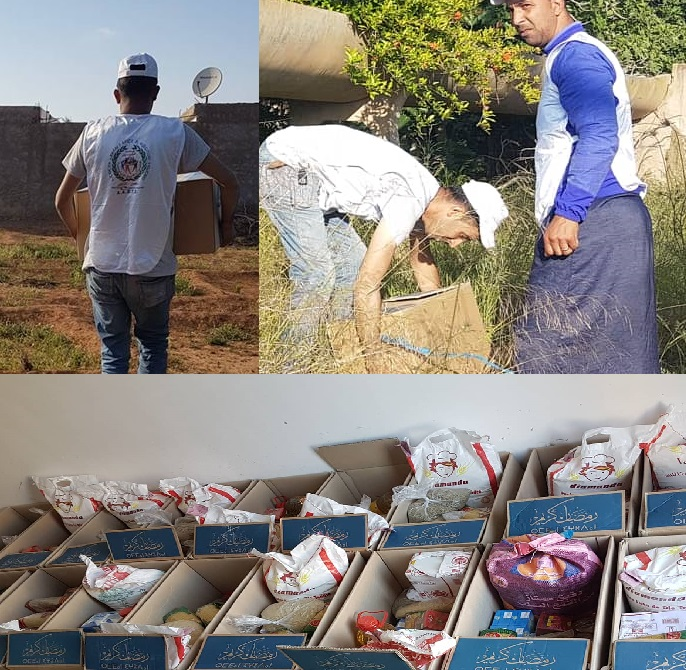 بالصور:جمعية افليون باركمان توزع مساعدات غذائية على المعوزين في رمضان