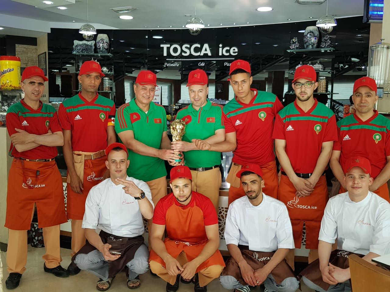 """مقهى """"TOSCA ICE"""" افضل مكان لمشاهدة مباريات المنتخب و كأس العالم بالناظور لهذا السبب؟؟"""