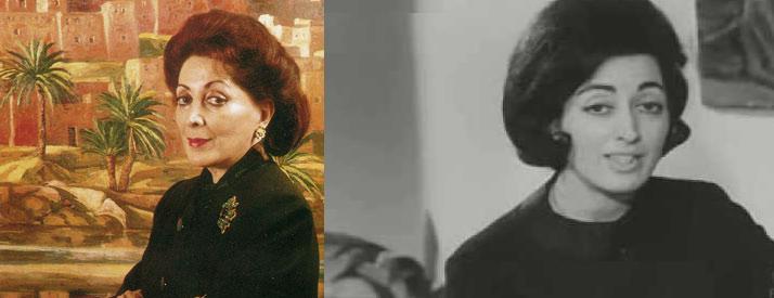 فيديو من سنة 1963:مريم مزيان..الأرستقراطية الآتية للفن من الناظور..أول امرأة مغربية ترتاد ميدان التصوير الفني