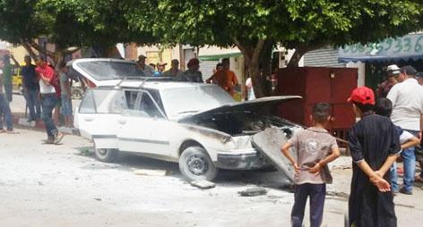 ردوا البال…اندلاع النار بسيارة واحي الناظور بسبب البوطاغاز وهذا ما أسفر عنه الحادث