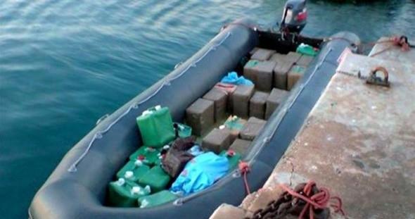 ضبط كمية من المواد المخدرة بعرض سواحل الناظور
