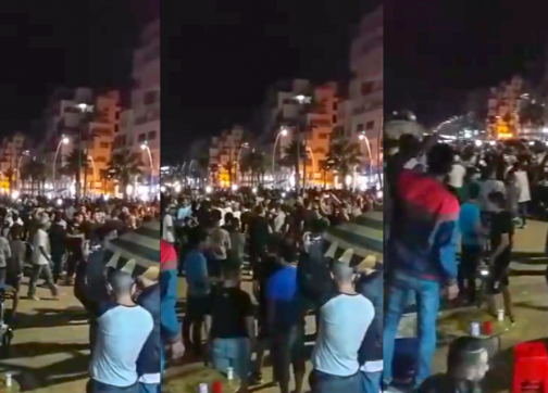 """في مشهد استثنائي..مئات الشباب يركضون صوب """"فونتوم"""" رافعين شعار: """"الشعب يريد الحريك فابور""""- فيديو"""