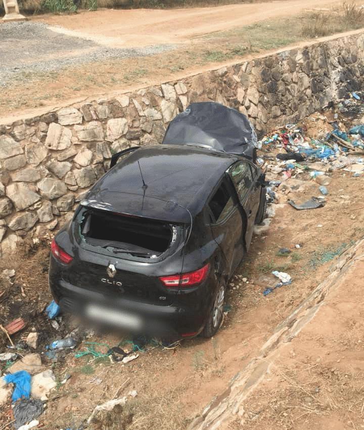 +صور: حادثة سير خطيرة و غريبة بمدخل الناظور