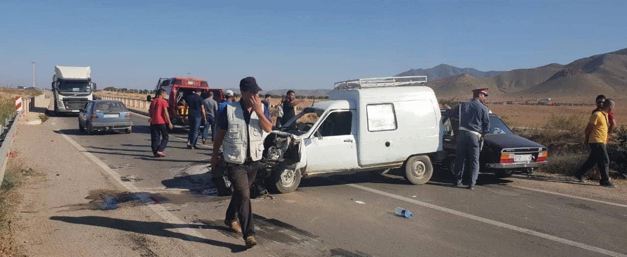 +صور: حادث سير خطير على الطريق بين الناظور و الدريوش