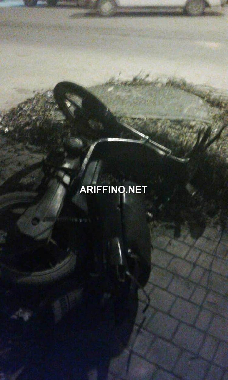 بن الطيب +صور: سيارة مجهولة تصدم دراجة نارية وتلوذ بالفرار