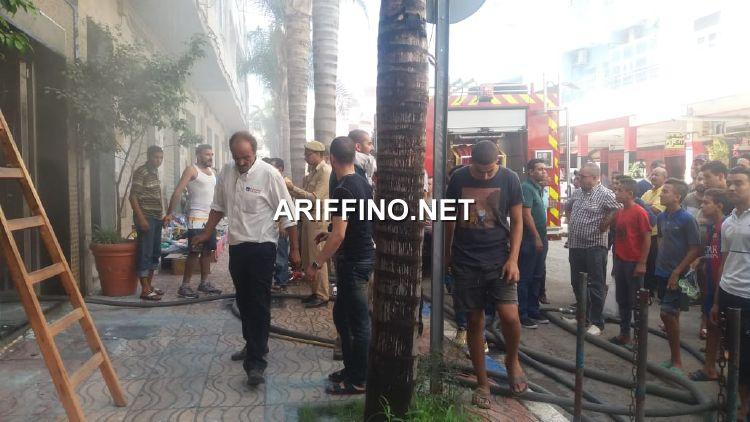 عاجل+صور و فيديو: اندلاع النيران في عمارة تضم عيادات اطباء وسط الناظور