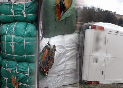 إحباط تهريب أطنان الملابس المهربة بقيمة 330 مليون سنتيم في الناظور ـ صور