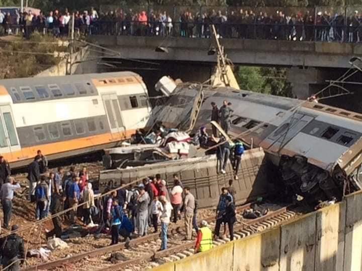 +صور: ارتفاع عدد ضحايا حادثة القطار إلى 11 قتيلا.. 4 ماتوا بمستعجلات مولاي عبد الله