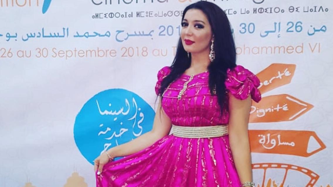 +صور: الإعلامية والفنانة الناظورية وفاء مِراس تتألق في مهرجان السينما والهجرة بمدينة وجدة