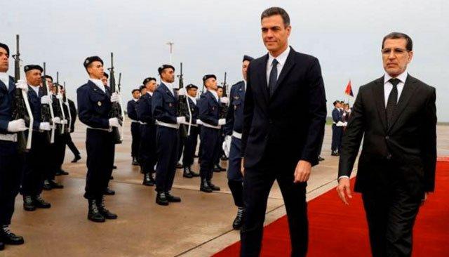 """""""الحريڭ"""" من سواحل الناظور واغلاق معبر بني انصار ومونديال 2030 ابرز الملفات التي جمعت رئيس حكومة اسبانيا بنظيره المغربي"""