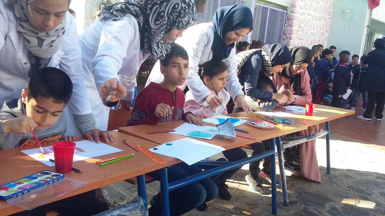 +صور: اطفال جمعية ايمن للتوحد بالناظور يحتفلون بالاسبوع الوطني للتعاون المدرسي رفقة تلامذة واطر مدرسة الحسن الثاني