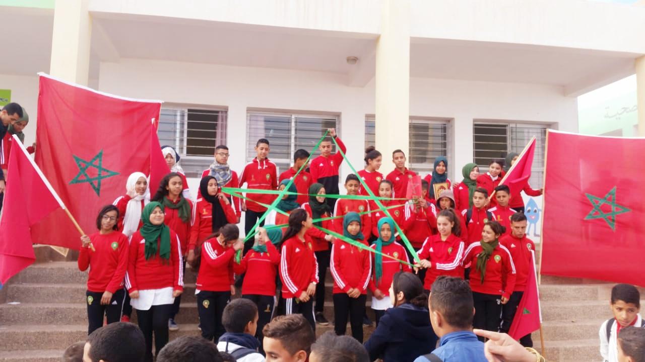 + صور :أطر وتلاميذ ثانوية أولاد ستوت الاعدادية بالناظور يحتفلون بذكرى المسيرة الخضراء وعيد الاستقلال .
