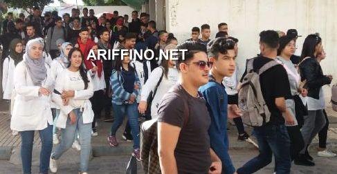 فيديو و صور: تلاميذ الناظور يتحدثون لأريفينو..لهذا نحتج على ساعة الحكومة