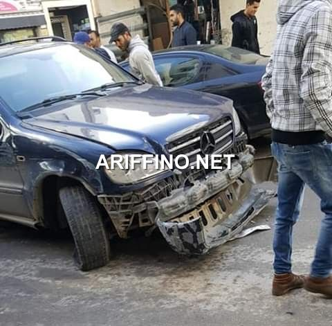 خطير+صور: سائق يصدم عدة سيارات و يهرب وسط الناظور