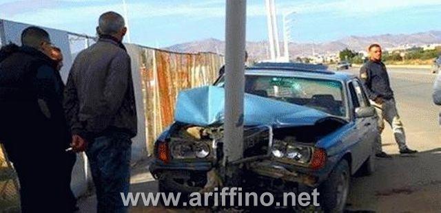 +الصور …حادثة سير خطيرة على الطريق الرابط بين بن الطيب و الدريوش