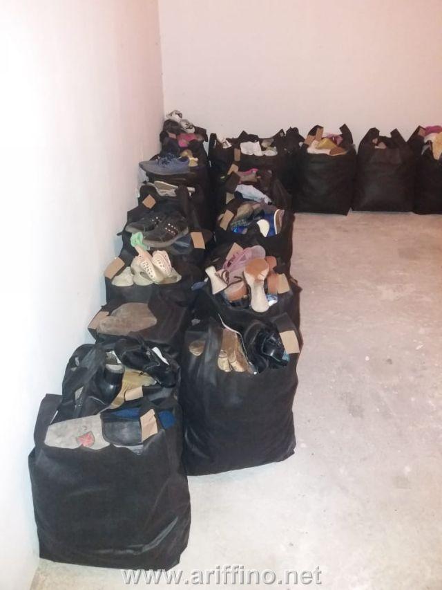 جمعية اير ازيرار للثقافة والتنمية بالبركانيين تشرف على توزيع الملابس و الأحذية على الأسر المحتاجة