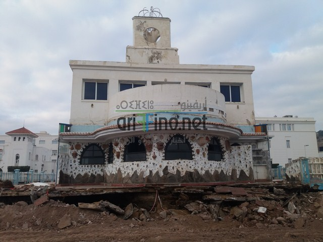 روبورتاج : تقدم الأشغال في عملية ترميم النادي البحري بالناظور يعطي فكرة عن التصميم المراد انجازه