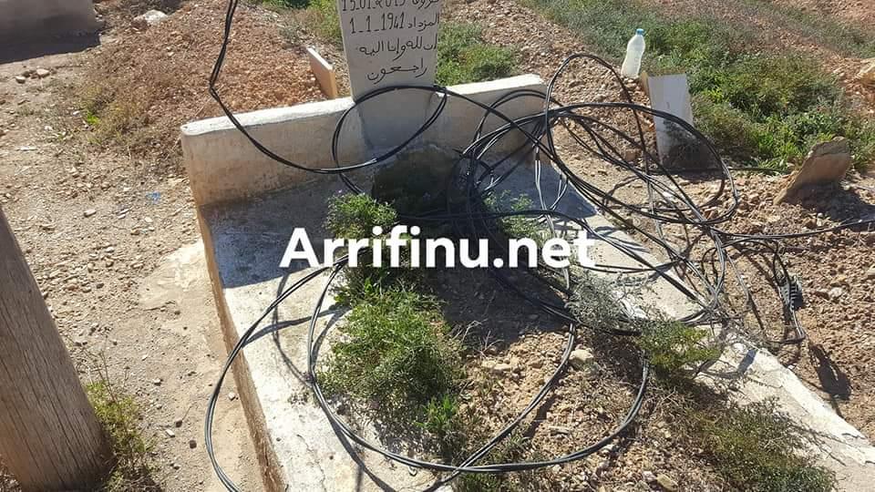 """+صور: سقوط اسلاك كهربائية على مقابر ببن الطيب و الجهات المعنية """"مامسوقاش"""""""